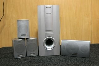 USED RV OR HOME AUDIO PANASONIC 5 PIECE SURROUND SOUND SYSTEM