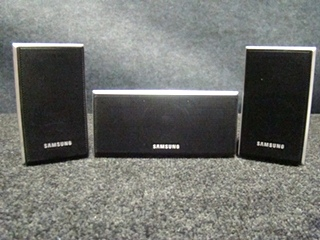 USED RV/MOTORHOME 3 PC. SAMSUNG SPEAKER SET (BLACK) FOR SALE