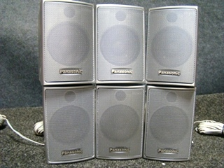 USED RV/MOTORHOME PANASONIC 6 PC SPEAKER SET (WIRED) FOR SALE
