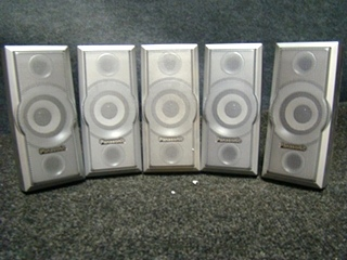 USED RV/MOTORHOME PANASONIC 5 PC SPEAKER SET (SILVER) FOR SALE