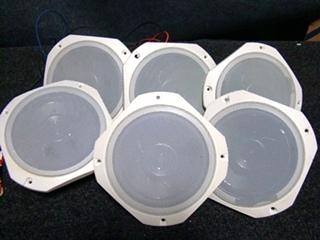 USED RV/MOTORHOME SET OF 6 TAN SPEAKERS 6 1/2