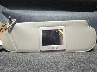 USED VOYAGER RV/MOTORHOME GRAY VINYL SUNVISOR WITH MONITOR (NO BACK UP CAMERA) FOR SALE