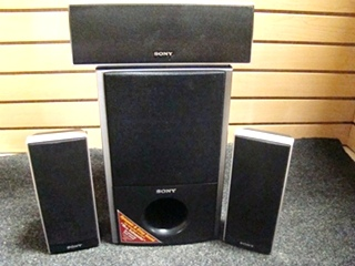 USED RV/MOTORHOME 4 PC SONY SURROUND SOUND SPEAKER SET
