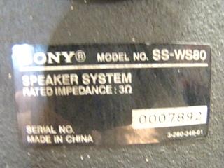 USED RV/MOTORHOME 4 PC SONY SURROUND SOUND SPEAKER SET