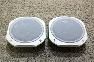 USED RV PARTS SET OF 2 CREAM SPEAKERS FOR SALE