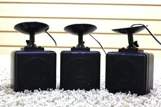 USED SET OF 3 BLACK CEILING MOUNT SPEAKERS FOR SALE