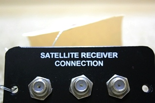 USED SATELLITE RECEIVER CONNECTION PANEL FOR SALE