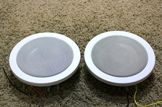 USED SET OF 2 MAGNADYNE 6 1/2 INCH SPEAKERS RV PARTS FOR SALE