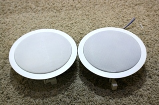 USED RV ELECTRONICS SET OF 2 - 7 1/2 INCH SPEAKERS FOR SALE