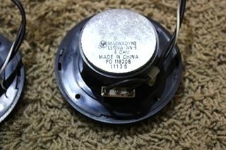 USED BLACK MAGNADYNE SET OF 3 RV SPEAKERS FOR SALE