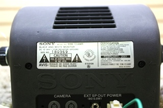 USED SONY BLACK AND WHITE SSM-721AMR MONITOR RV PARTS FOR SALE