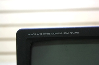 USED RV SONY BLACK AND WHITE MONITOR SSM-721AMR MOTORHOME ELECTRONICS FOR SALE
