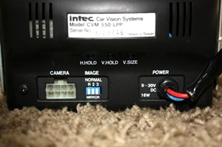 USED RV INTEC CVM 550 LPP BACK-UP MONITOR FOR SALE