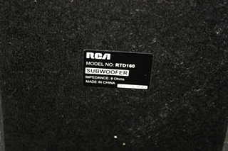USED MOTORHOME RCA SUBWOOFER MODEL: RTD160 FOR SALE