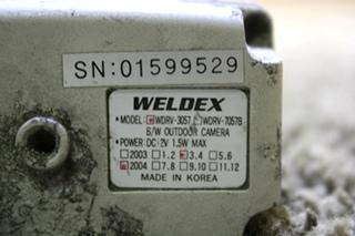 USED WDRV-3057 WELDEX B/W OUTDOOR RV CAMERA FOR SALE