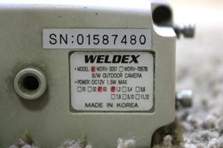 USED WELDEX BLACK/WHITE OUTDOOR CAMERA MODEL: WDRV-3057 MOTORHOME PARTS FOR SALE