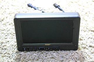 USED MOTORHOME AOM 713 VOYAGER COLOR TFT LCD 3 CAMERA MONITOR FOR SALE