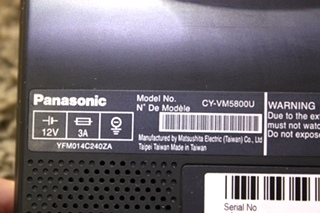 USED RV PANASONIC CY-VM5800U COLOR LCD MONITOR FOR SALE