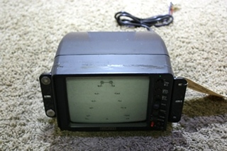 USED WELDEX B/W 3 VIEW RV MONITOR WITH AUDIO WDRV-3467M FOR SALE