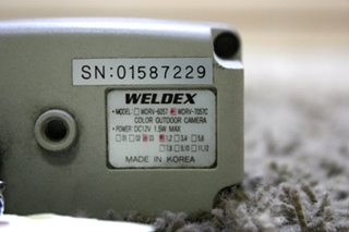 USED RV WELDEX WDRV-7057C COLOR OUTDOOR CAMERA FOR SALE