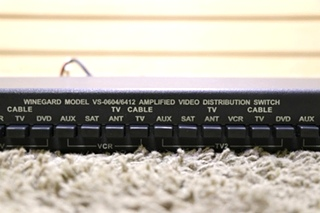 USED RV WINEGARD VS-0604/6412 AMPLIFIED VIDEO DISTRIBUTION SWITCH FOR SALE