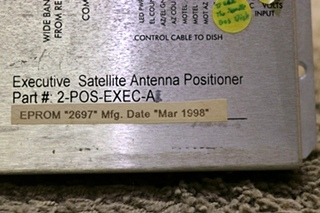 USED RV MOTO-SAT EXECUTIVE SATELLITE ANTENNA POSITIONER 2-POS-EXEC-A FOR SALE