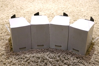 USED SET OF 4 PANASONIC MOTORHOME SURROUND SOUND SPEAKERS FOR SALE