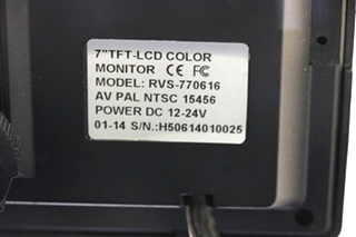USED MOTORHOME RVS SYSTEMS 7 INCH TFT LCD COLOR MONITOR RV PARTS FOR SALE
