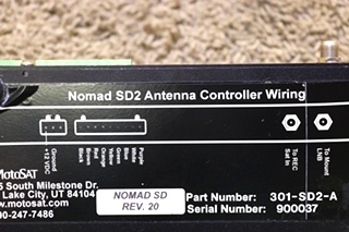 USED MOTORHOME MOTOSAT NOMAD SD2 ANTENNA CONTROLLER 301-SD2-A RV PARTS FOR SALE