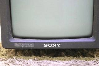 SONY SSM-721AMR USED BLACK AND WHITE RV MONITOR MOTORHOME PARTS FOR SALE