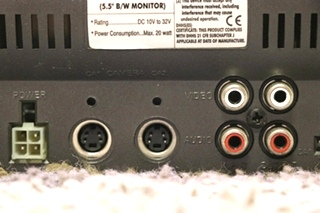 USED VOYAGER 5.5 INCH B/W VOM-55 MONITOR MOTORHOME PARTS FOR SALE